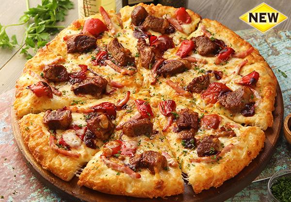 ピザーラ史上初のステーキを乗せた豪華ピザ『ジューシーステーキ』を食べてみた!🍕